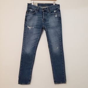 Hollister Skinny Mens Blue Denim Jeans 31 x 32